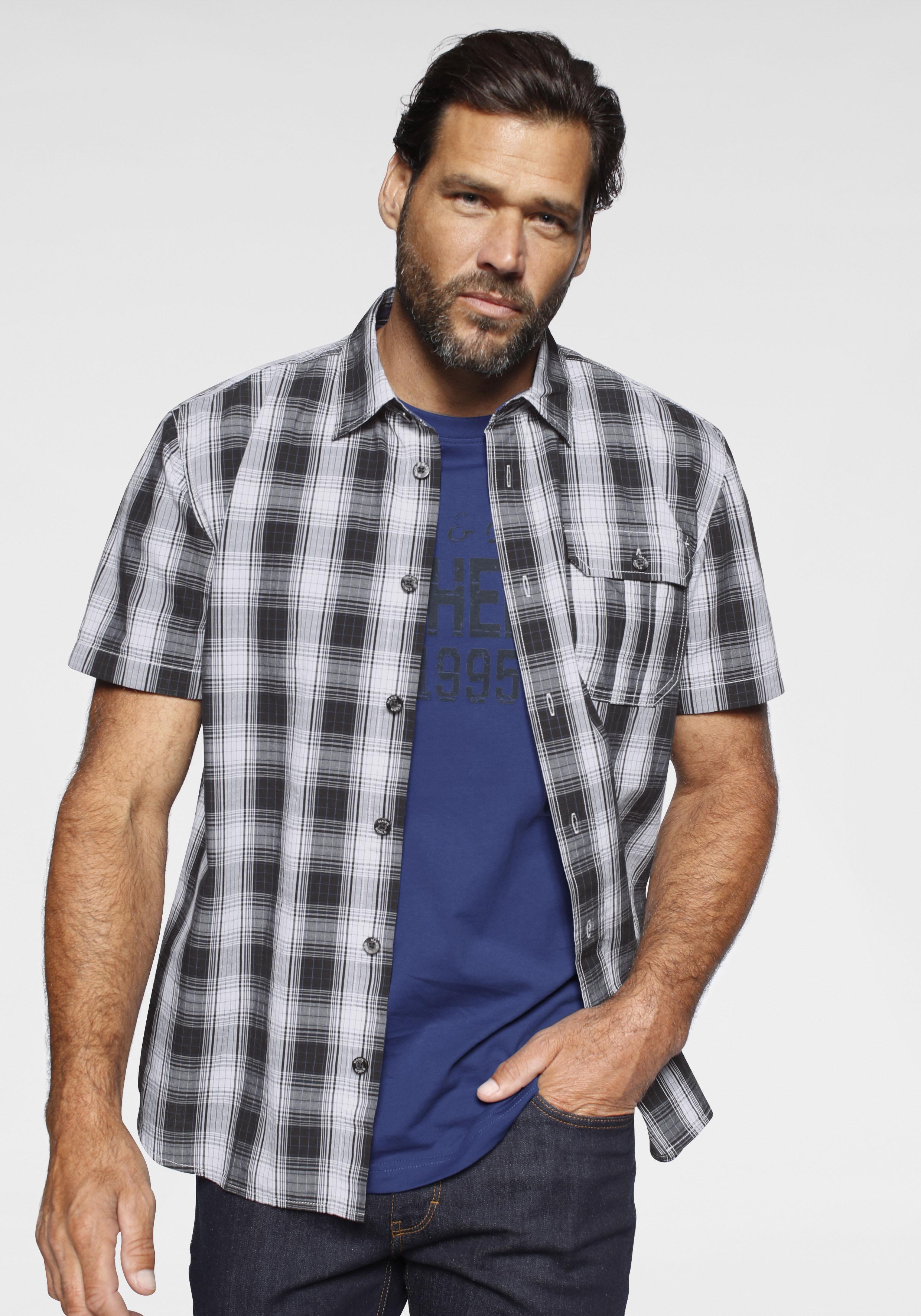 Hemden Herren Kurzarm Man/'s World Kurzarmhemd Set, 2 tlg., mit T-Shirt