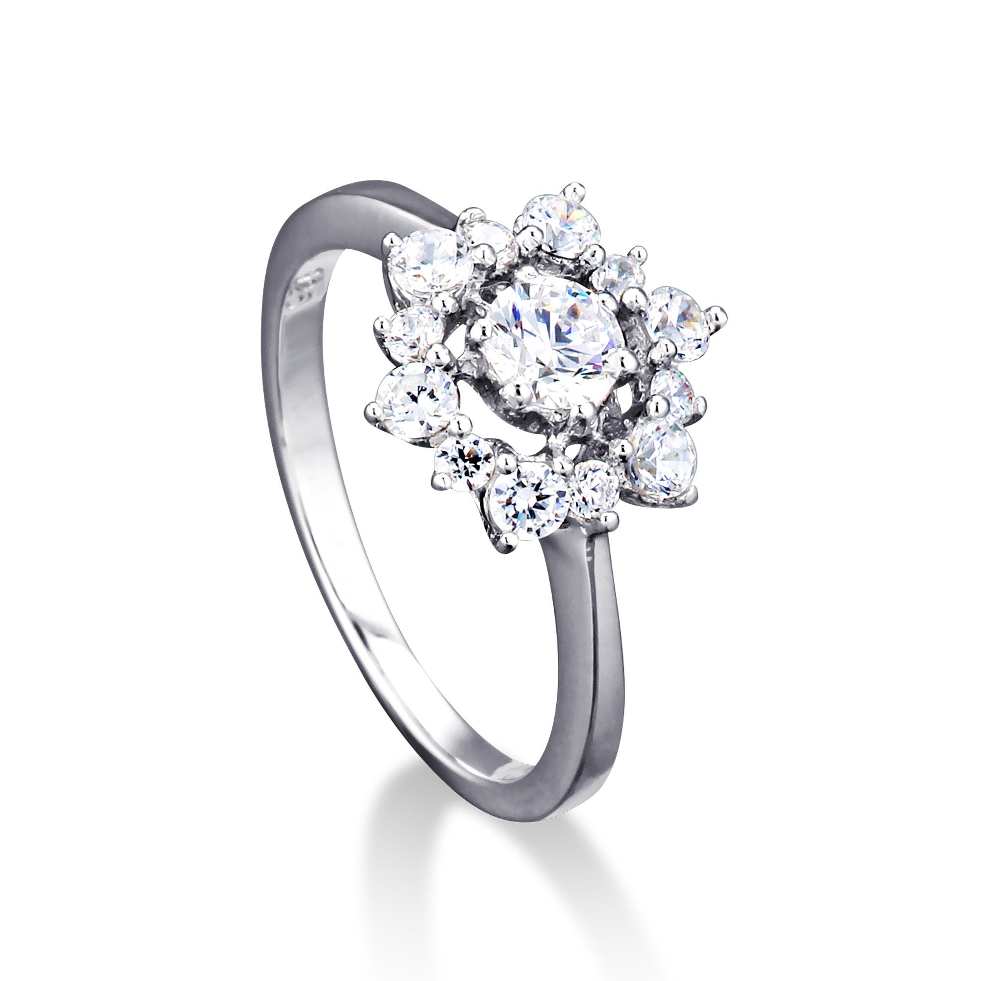 MONA MON'AMOUR Ring 925/- Sterling Silber rhodiniert Zirkonia | Schmuck > Ringe | Weiß | Mona Mon'Amour