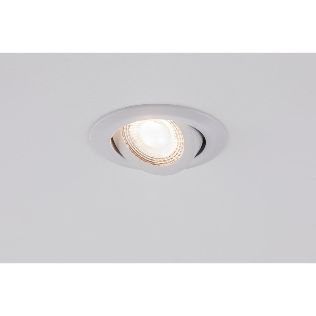 Paulmann LED Einbaustrahler »3er-Set schwenkbar 3-Stufen-dimmbar 3x6W 3.000K Weiß«, 3 St., Warmweiß