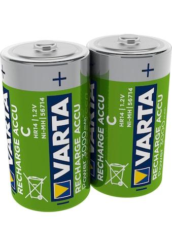 VARTA Batterie »RECHARGE ACCU Power vorgeladener D Mono NiMH Akku (2er Pack, 300mAh) -... kaufen