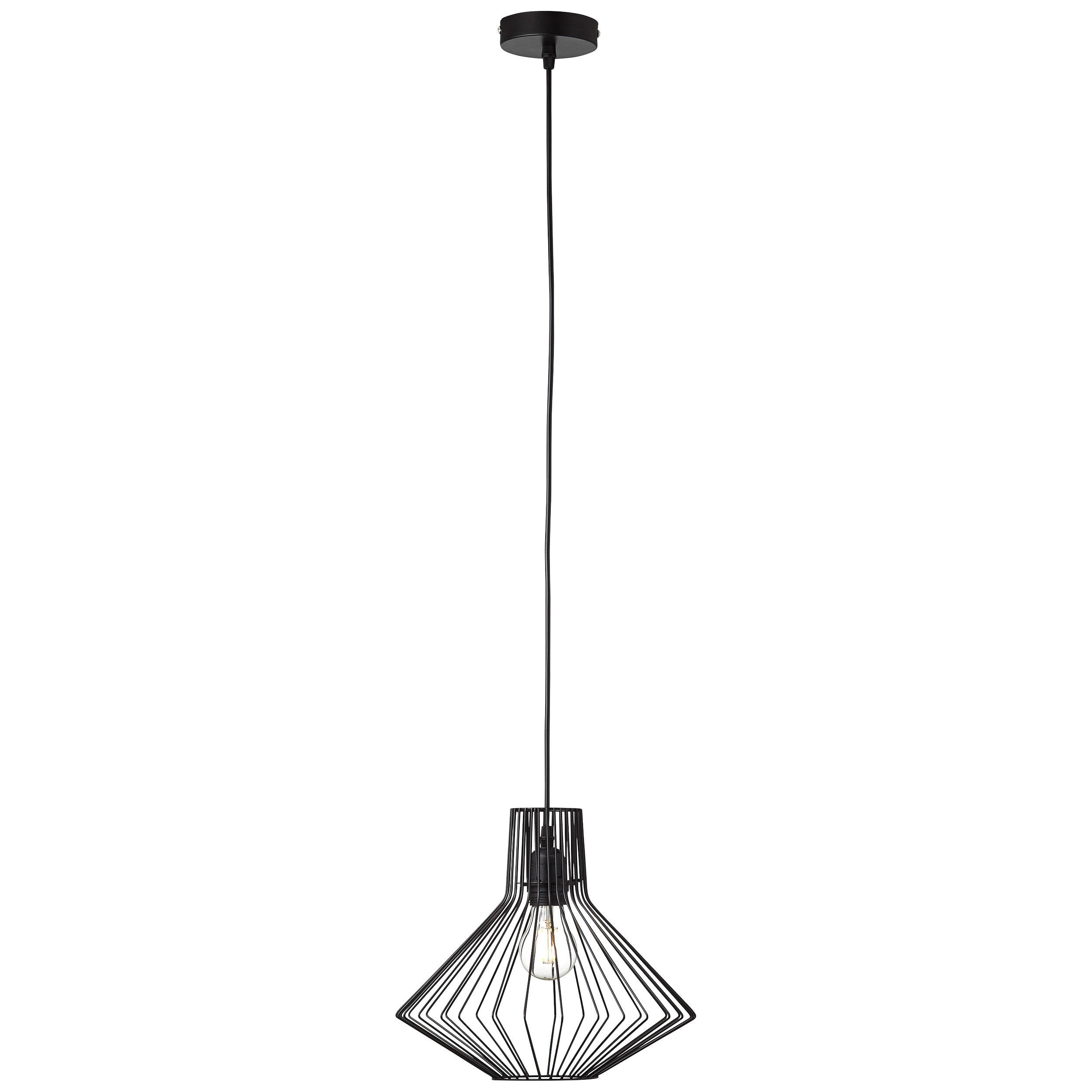 Brilliant Leuchten Dalma Pendelleuchte 30cm schwarz matt