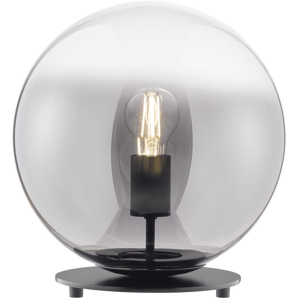 SCHÖNER WOHNEN-Kollektion Tischleuchte »Mirror«, E27, 1 St., Tischlampe Rauchglas Ø 30 cm