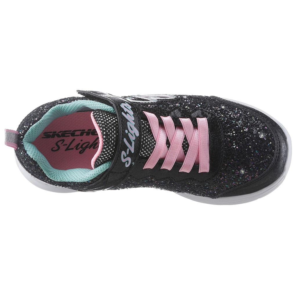 Skechers Kids Sneaker »Blinkschuh Glimmer Kicks«, mit cooler Blinkfunktion