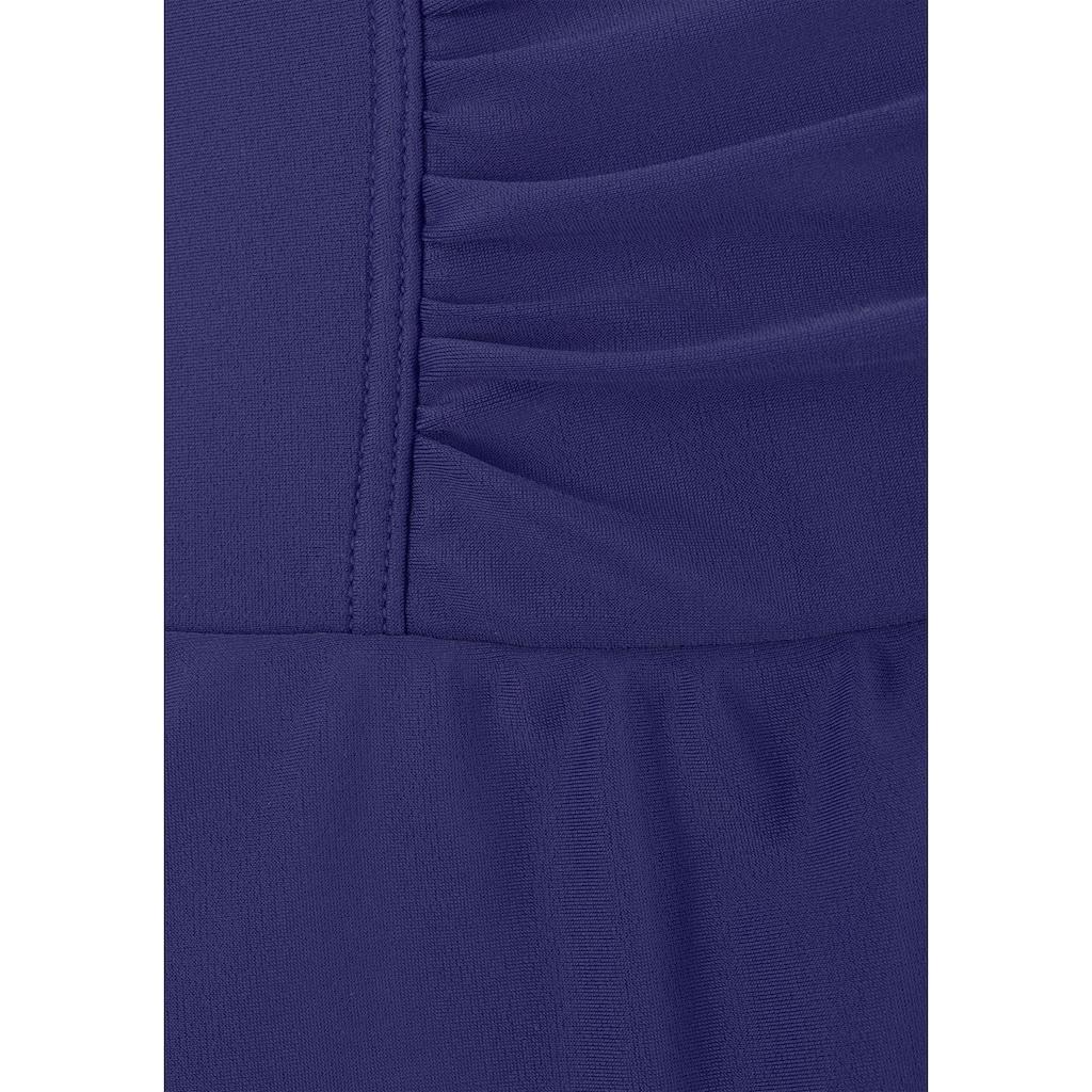 LASCANA Badekleid, mit modischen Raffungen