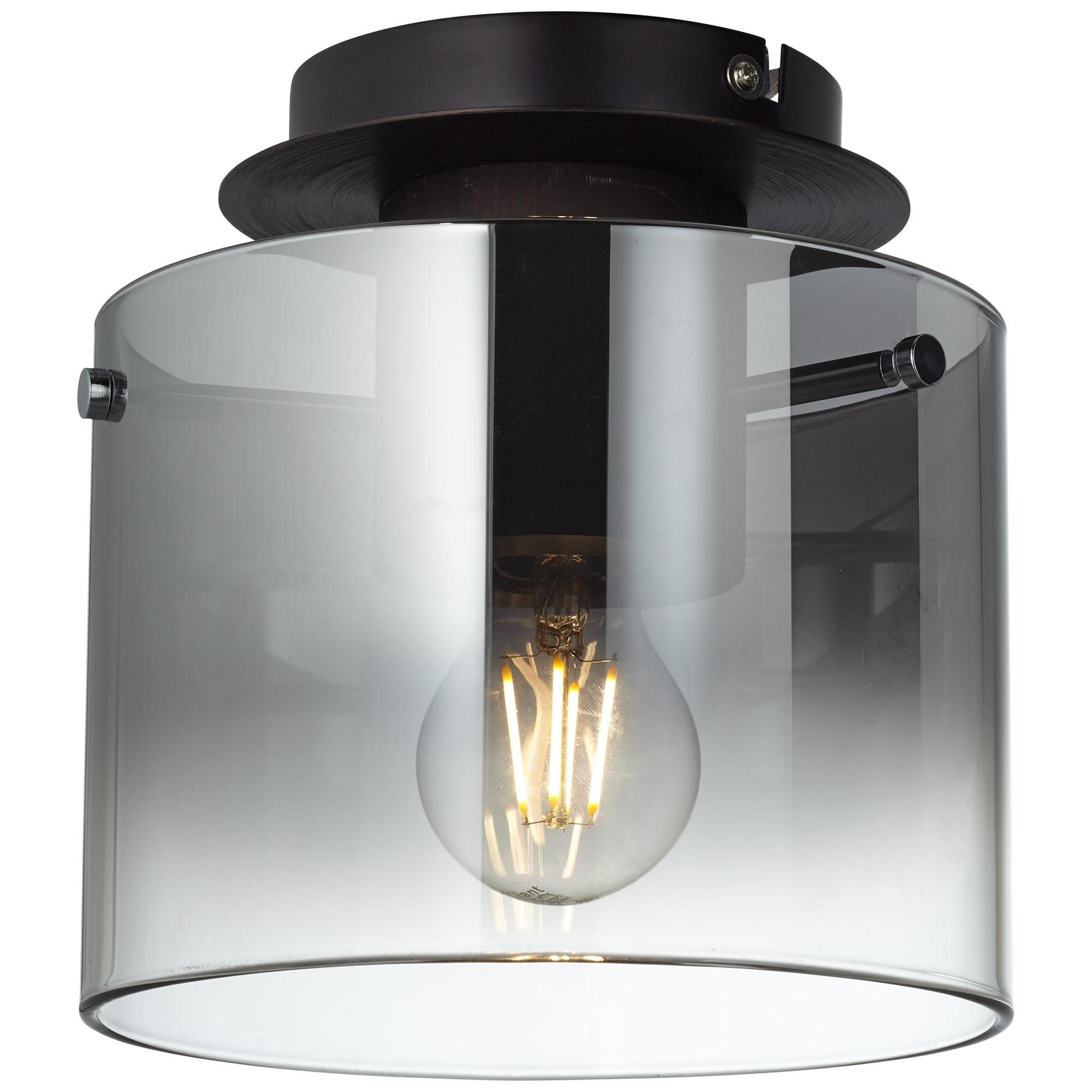 Brilliant Leuchten Beth Deckenleuchte 20cm Kaffee/rauchglas