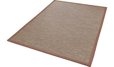 Dekowe Teppich »Naturino Effekt«, rechteckig, 8 mm Höhe, Flachgewebe, Sisal-Optik, mit Bordüre, In- und Outdoor geeignet, Wohnzimmer kaufen