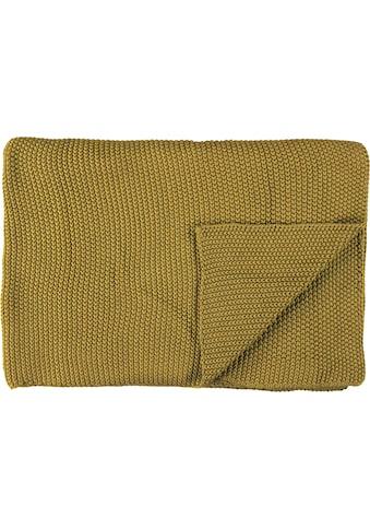 Marc O'Polo Home Plaid »Nordic Knit«, GOTS zertifiziert - nachhaltig aus Bio-Baumwolle kaufen