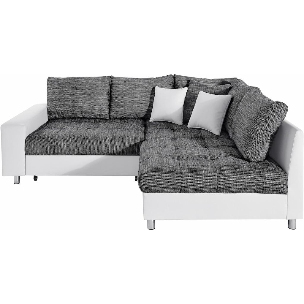 Nova Via Ecksofa »Tobi 2«, wahlweise mit Kaltschaum (140kg Belastung/Sitz) und Bettfunktion