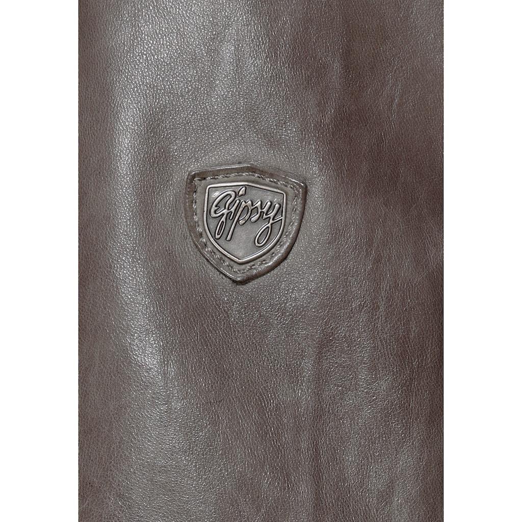 Gipsy Lederjacke »Amali«, cooler hochwertiger Lederblazer im 2-in-1-Look mit Kapuze