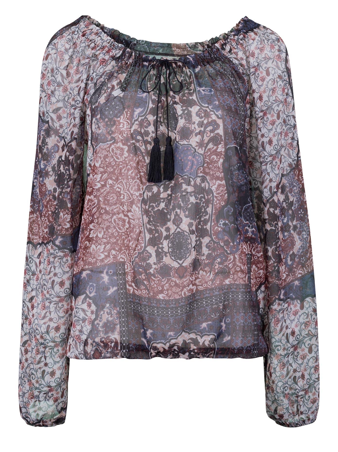 Ambria Bluse mit modernem Karree-Ausschnitt