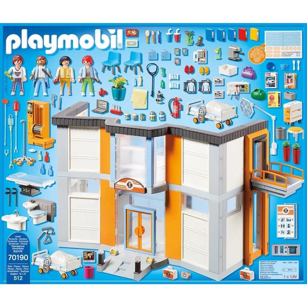 Playmobil® Konstruktions-Spielset »Großes Krankenhaus mit Einrichtung (70190), City Life«, (512 St.), Made in Germany