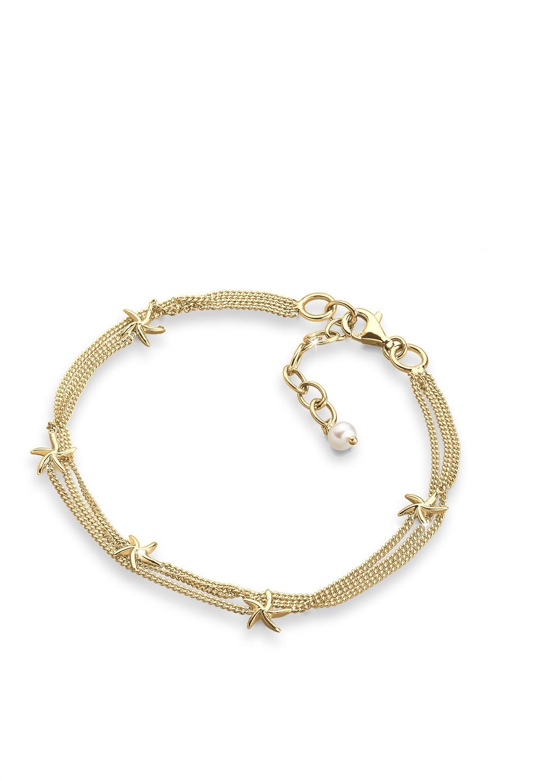 Elli Perlenarmband Seestern 925 Sterling Silber   Schmuck > Armbänder > Perlenarmbänder   Elli
