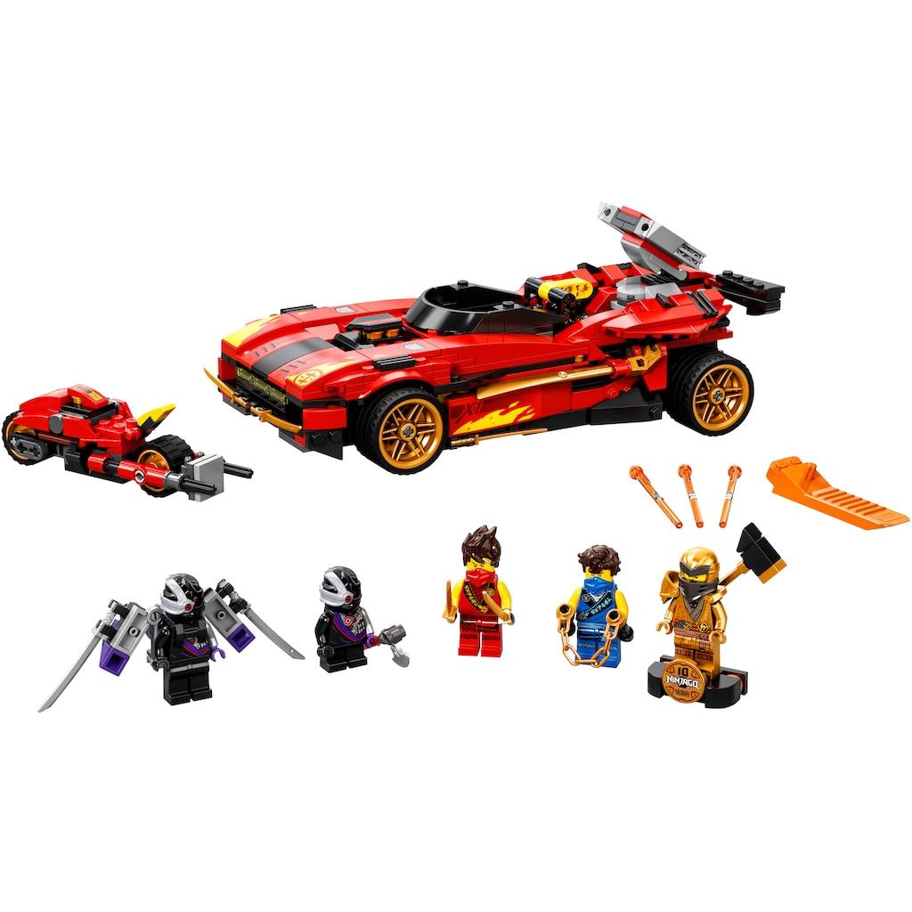 LEGO® Konstruktionsspielsteine »X-1 Ninja Supercar (71737),LEGO® NINJAGO®«, (599 St.), Made in Europe