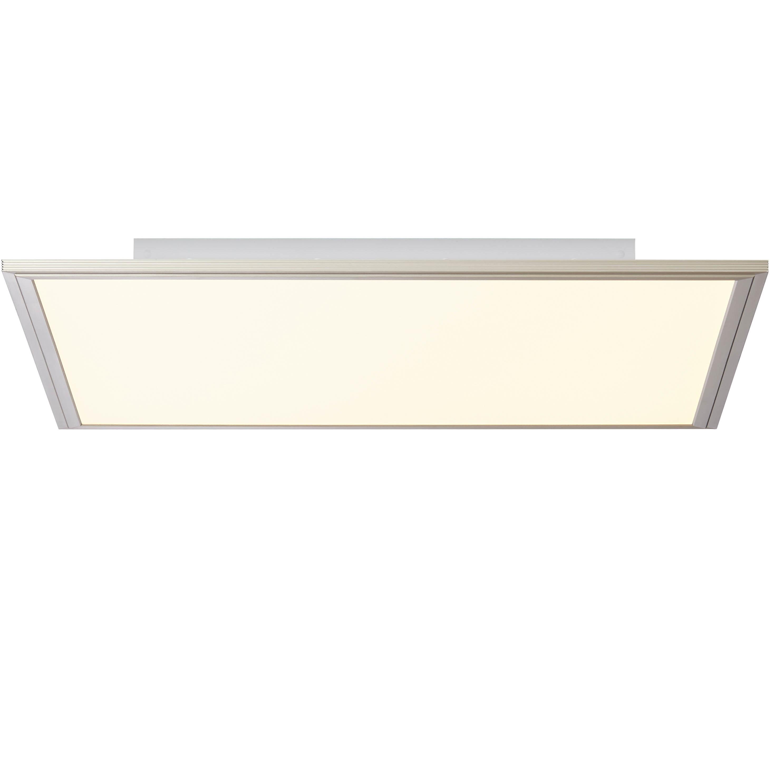 Brilliant Leuchten Flat LED Deckenaufbau-Paneel 60x60cm nickel eloxiert