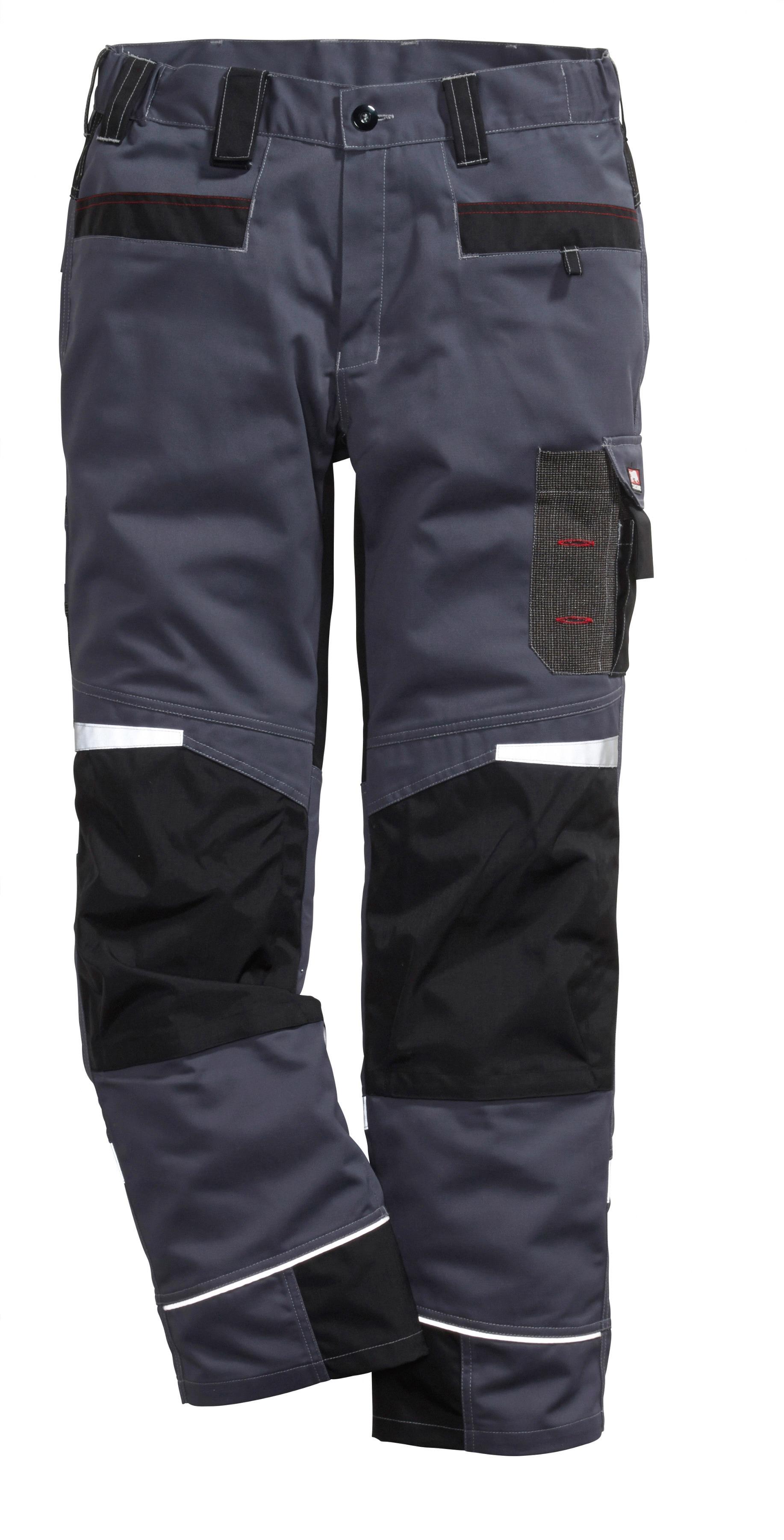 Bullstar Arbeitshose, mit Handytasche grau Herren Arbeitshosen Arbeits- Berufsbekleidung Arbeitshose