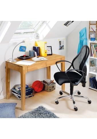andas Schreibtisch »Marsens«, aus schönem massivem Eichenholz, mit zwei Schubladen,... kaufen