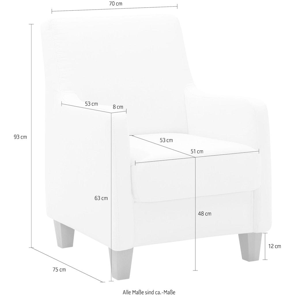 Home affaire Sessel »Palmera«, Federkern-Polsterung, in 4 Bezugsqualitäten