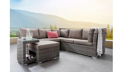 Destiny Loungeset »BAHIA«, (Set, 5 tlg.), Sofa mit klappbarem Verdeck, Polyrattan kaufen