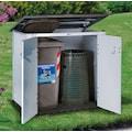 Garofalo Mülltonnenbox »URBAN 100«, für 2x120 l aus Kunststoff, BxTxH: 122,5x82,5x133 cm