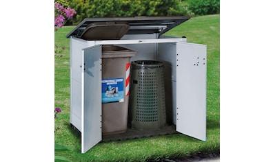 Garofalo Mülltonnenbox »URBAN 100«, für 2x120 l aus Kunststoff, BxTxH: 122,5x82,5x133 cm kaufen