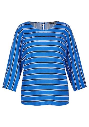 VIA APPIA DUE Luftige Bluse mit Streifen - Muster Plus Size kaufen