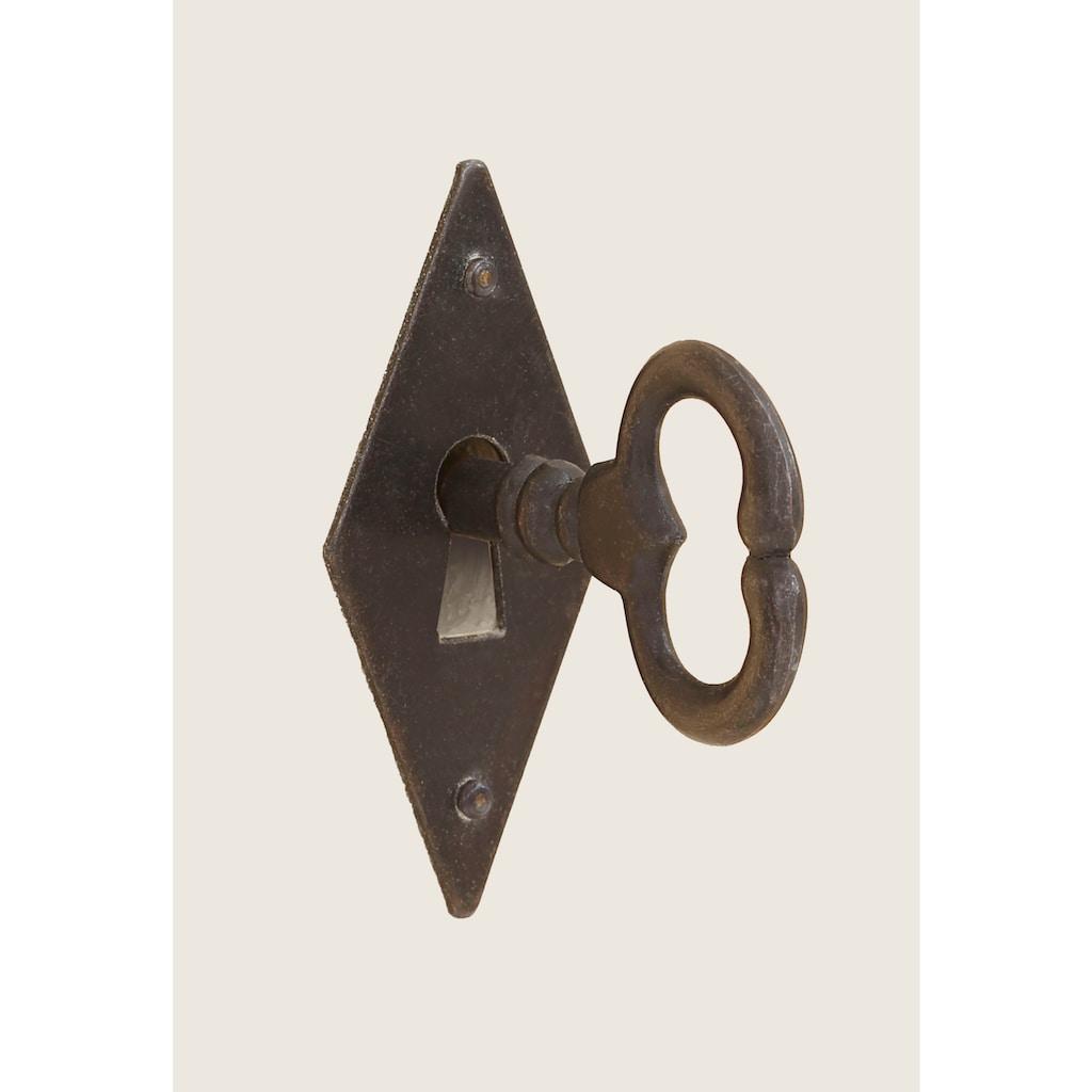 Premium collection by Home affaire Sekretär »Secretaer Taunus«, aus schönem massivem Fichtenholz, mit einzigartiger Handbemalung auf den Türfronten, Breite 113 cm