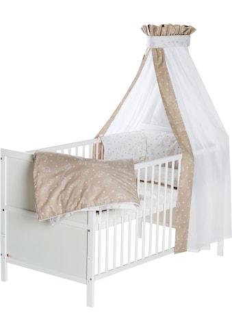 Schardt Babybett »Lenny, Origami Beige«, mit Bettwäsche, Nestchen, Himmel,... kaufen