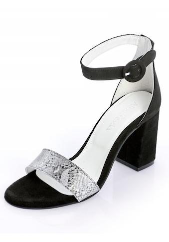 Alba Moda Sandalette aus hochwertigem Ziegenveloursleder kaufen