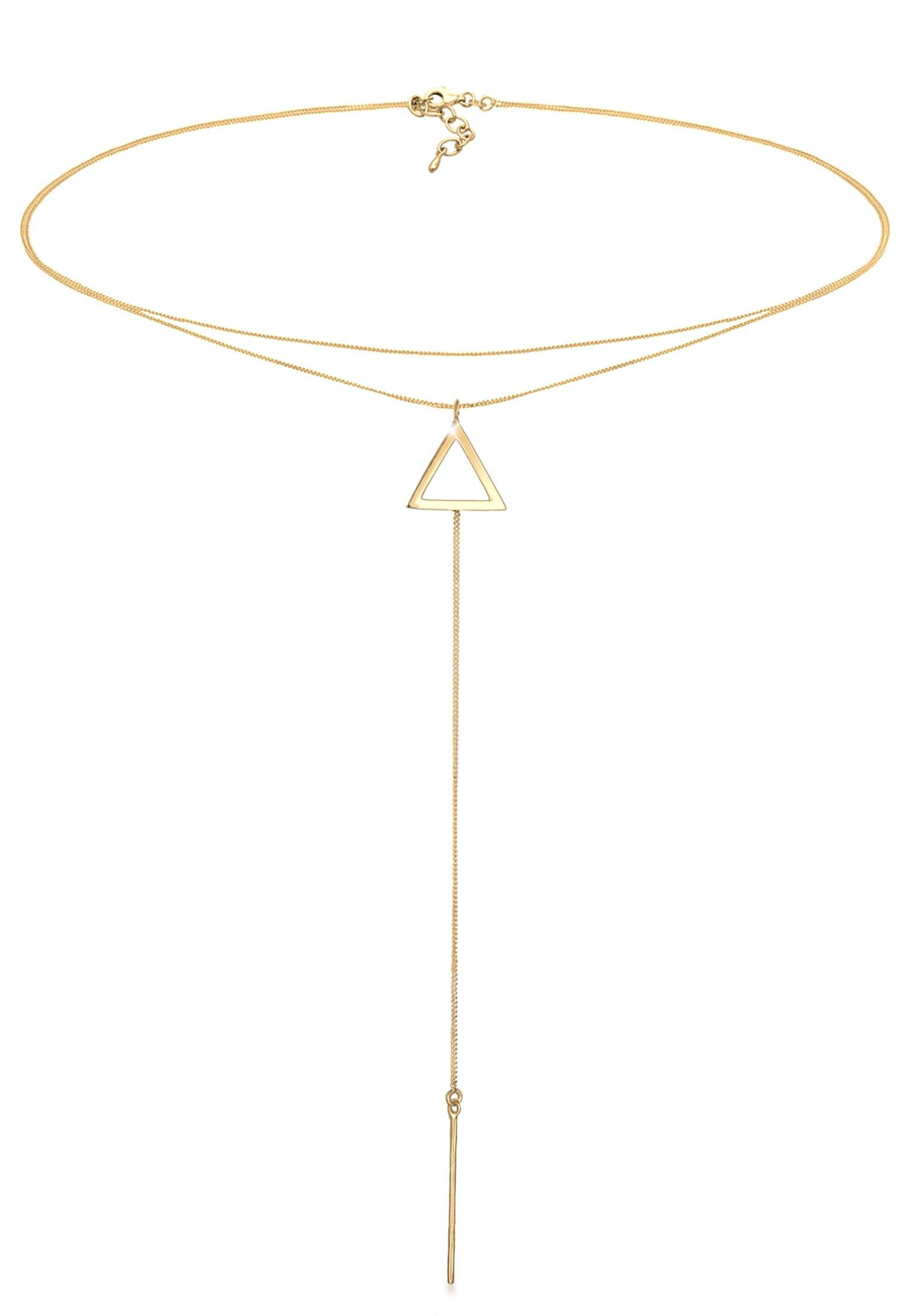 elli -  Collier Choker Y-Kette Dreieck 925 Silber