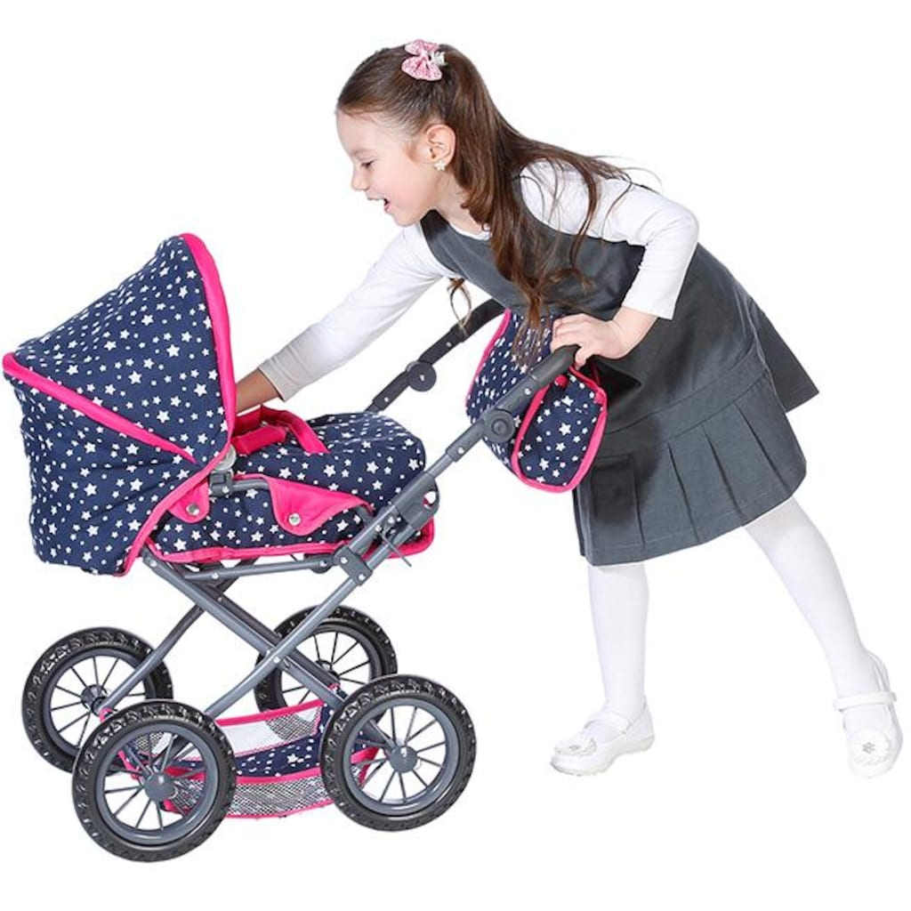 Knorrtoys® Kombi-Puppenwagen »Ruby - Star Blue«