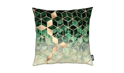 Dekokissen, »Leaves & Cubes«, Juniqe kaufen