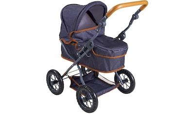 """Knorrtoys® Puppenwagen """"First  -  dark blue"""" kaufen"""