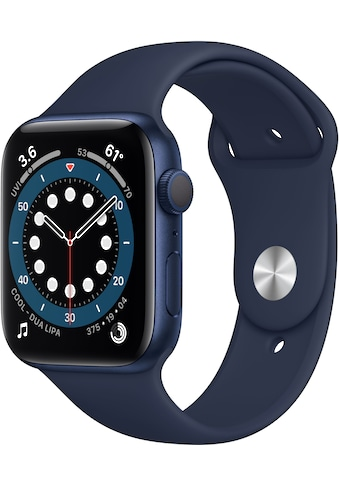Apple Watch »Series 6 GPS, Aluminiumgehäuse mit Sportarmband 44mm« (, Watch OS 6, inkl. Ladestation (magnetisches Ladekabel) kaufen