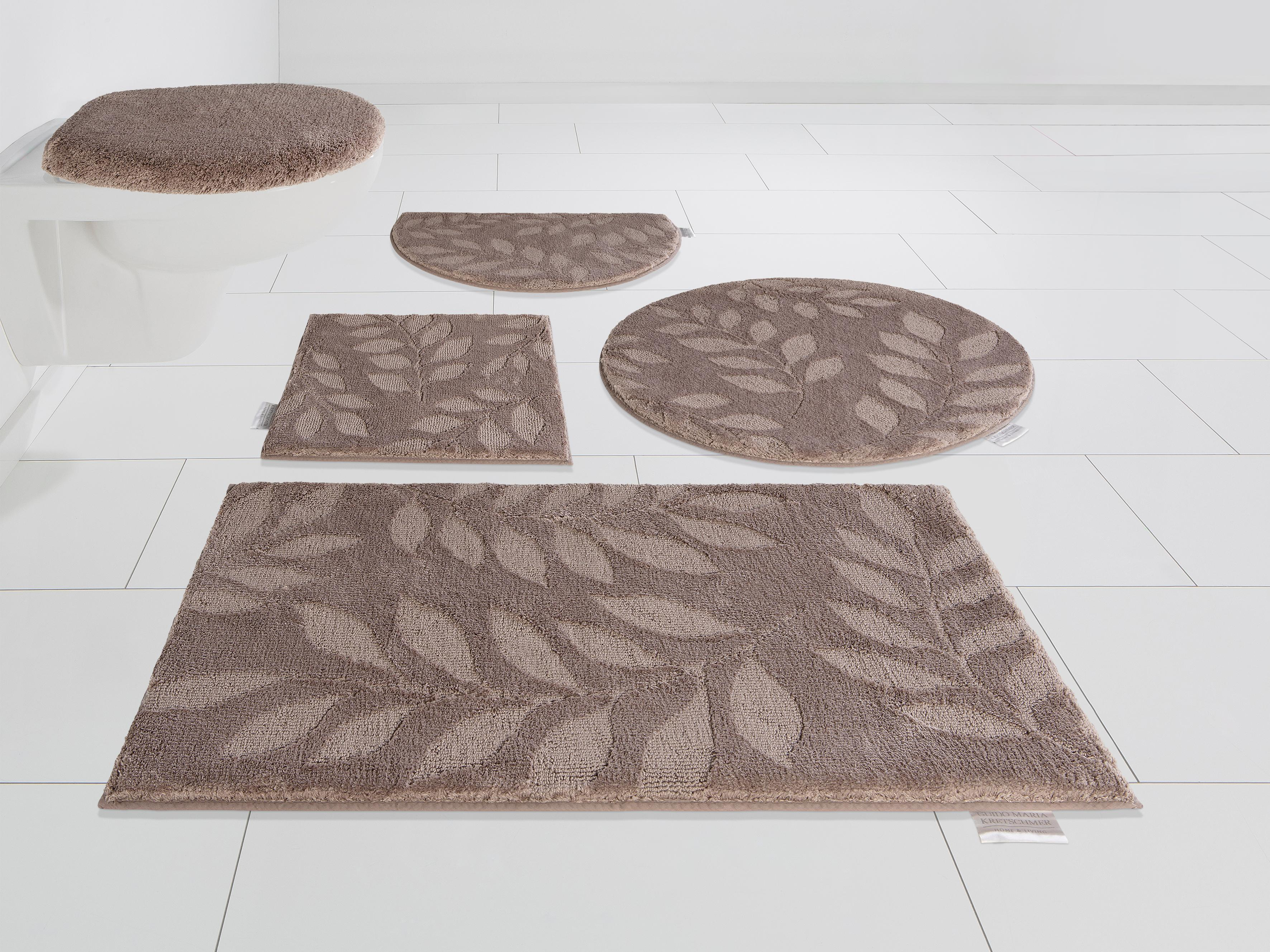 Image of Badematte Leaves, Guido Maria Kretschmer Home&Living, Höhe 10 mm