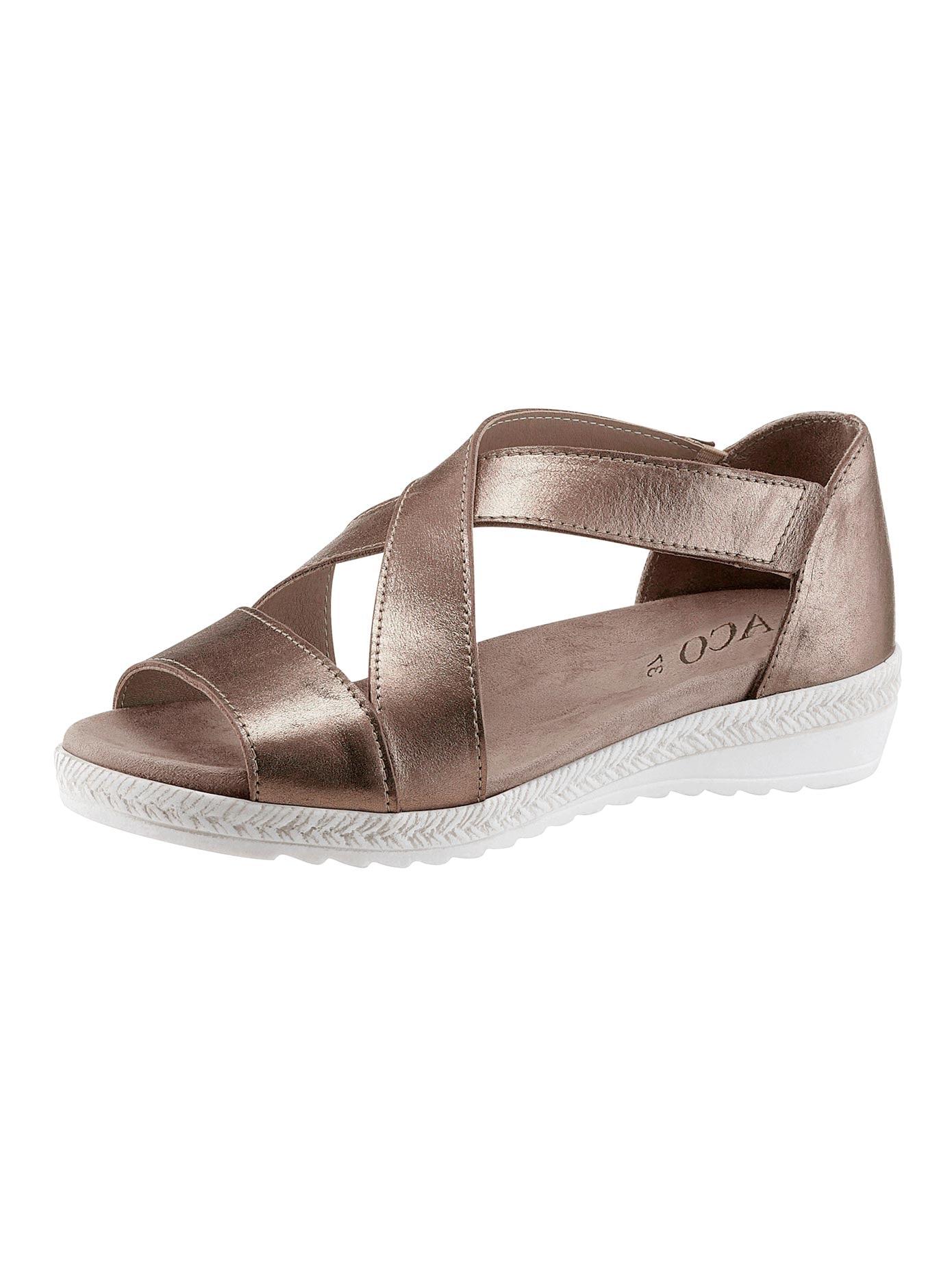 Aco Sandalette braun Damen Sandaletten Sandalen