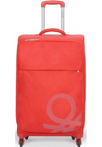 United Colors of Benetton Weichgepäck-Trolley »Blow, 69 cm, red«, 4 Rollen kaufen