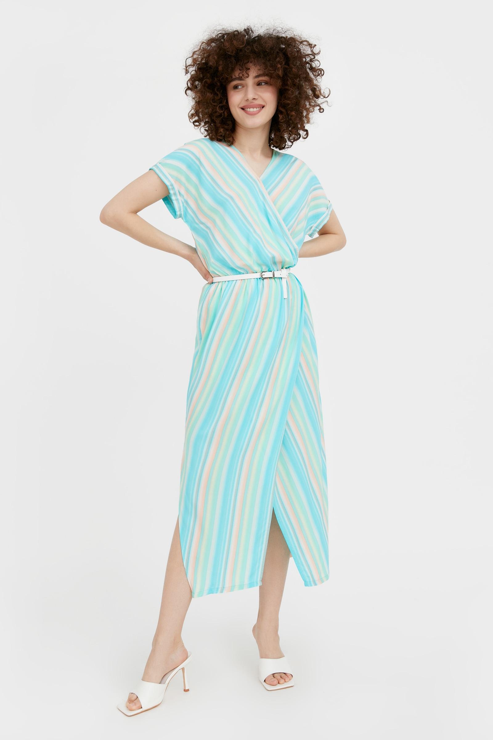 finn flare -  Jerseykleid, mit mehrfarbigem Streifen-Design