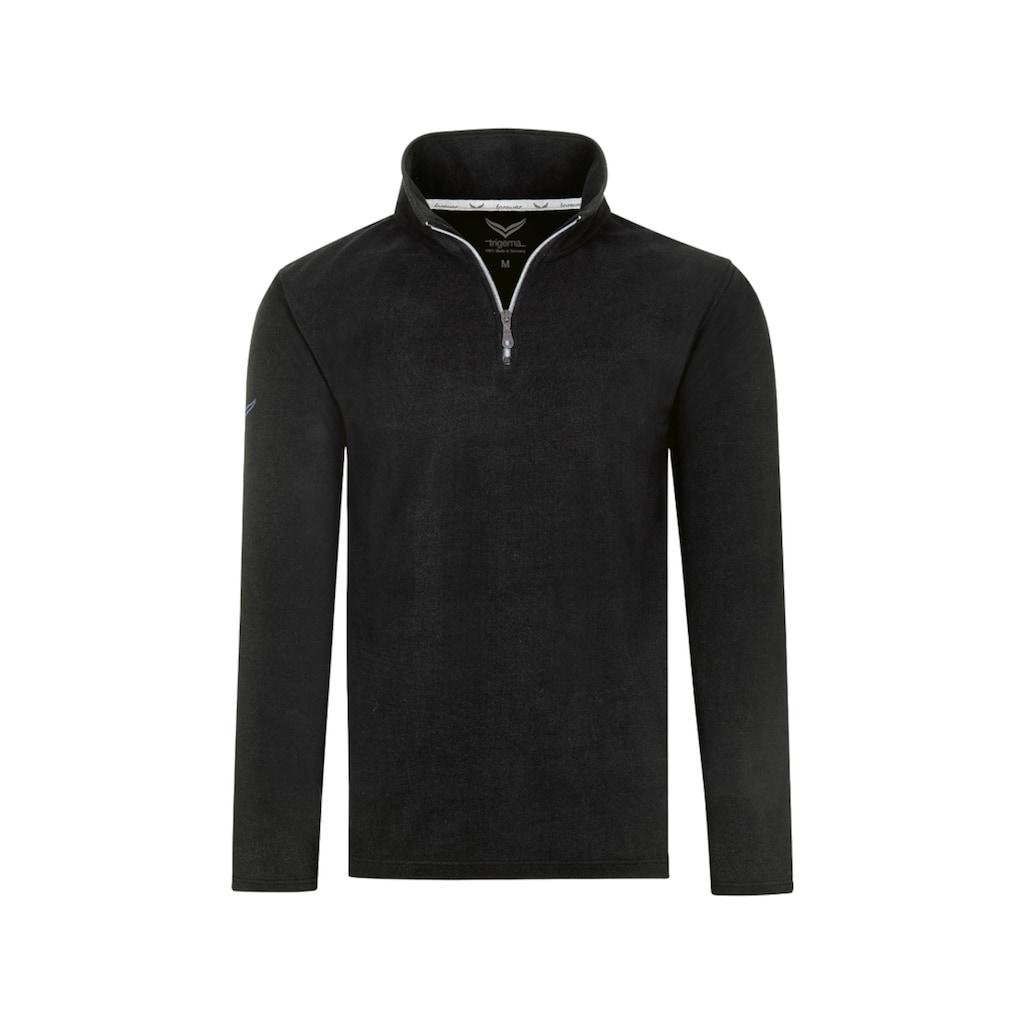 Trigema Strickfleece-Pullover, mit Reißverschluss