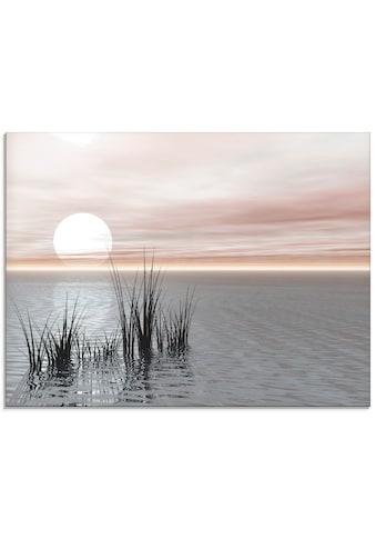 Artland Glasbild »Sonnenuntergang mit Schilf«, Sonnenaufgang & -untergang, (1 St.) kaufen