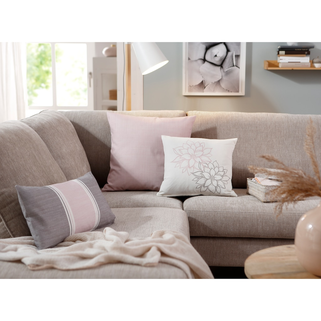 Home affaire Kissenhüllen »Susan«, (3 St., 1x 50x50cm-1x 40x40cm-1x 30x50cm), mit unterschiedlichen Designs in einem Set
