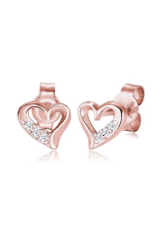 Diamore Paar Ohrstecker »Herz Liebe Diamant (0.03 ct.) 925 Silber« kaufen