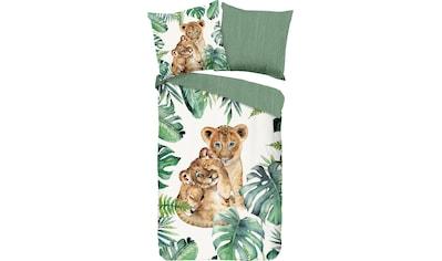 good morning Kinderbettwäsche »Jungle«, mit Löwenwelpe kaufen