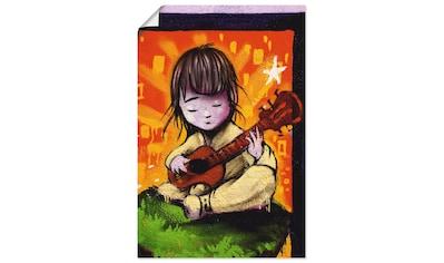 Artland Wandbild »Junge mit Gitarre - Graffiti«, Kind, (1 St.), in vielen Größen & Produktarten - Alubild / Outdoorbild für den Außenbereich, Leinwandbild, Poster, Wandaufkleber / Wandtattoo auch für Badezimmer geeignet kaufen