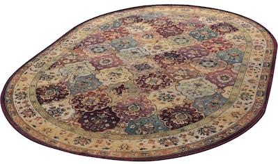 Orientteppich, »Moritz«, THEKO, oval, Höhe 10 mm, maschinell gewebt kaufen