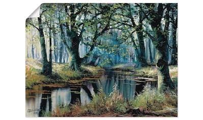 Artland Wandbild »Ruhe von den Bäumen«, Wald, (1 St.), in vielen Größen & Produktarten... kaufen