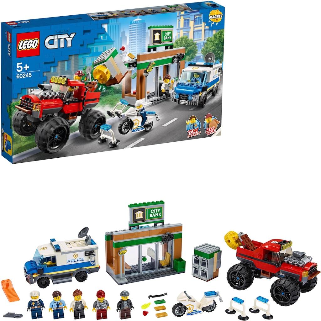 LEGO® Konstruktionsspielsteine »Raubüberfall mit dem Monster-Truck (60245), LEGO® City«, (362 St.)
