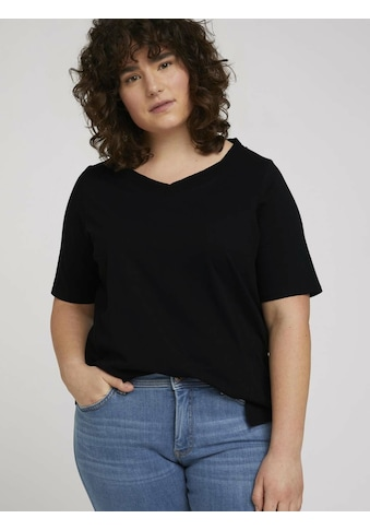 TOM TAILOR MY TRUE ME T-Shirt »T-Shirt mit V-Ausschnitt aus Bio-Baumwolle« kaufen