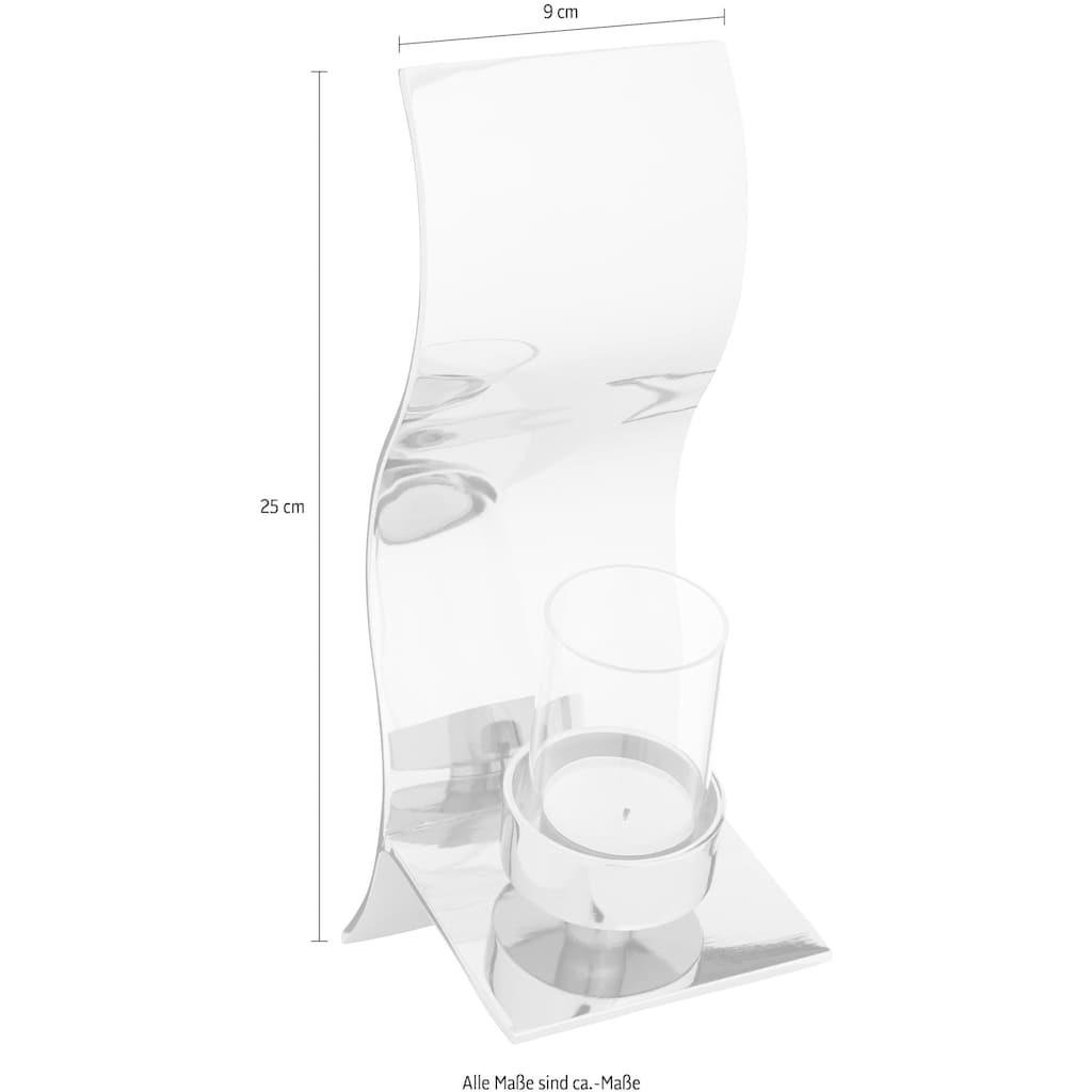 Fink Wandkerzenhalter »WAVE«, Kerzen-Wandleuchter, Kerzenhalter, Wanddeko, in Handarbeit hergestellt, verschiedene Größen erhältlich, ideal im Esszimmer & Wohnzimmer