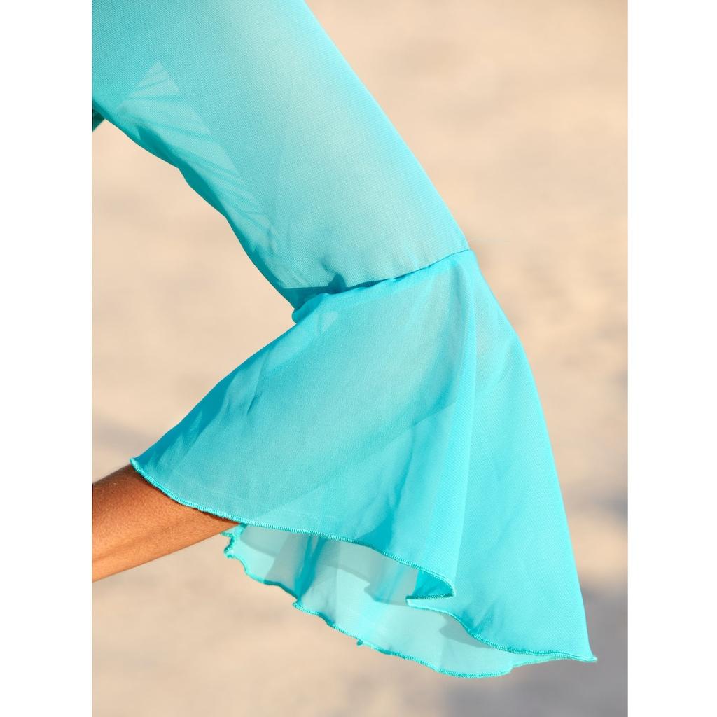 Alba Moda Strandkleid mit Chiffonärmeln