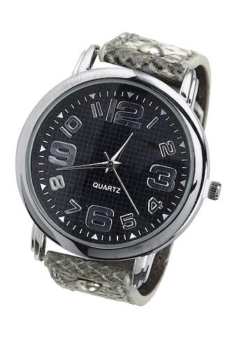 Armbanduhr mit Band in Snakeoptik kaufen